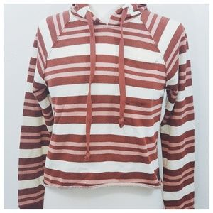Tillys Sky & Sparrow Striped Pocket Hoodie
